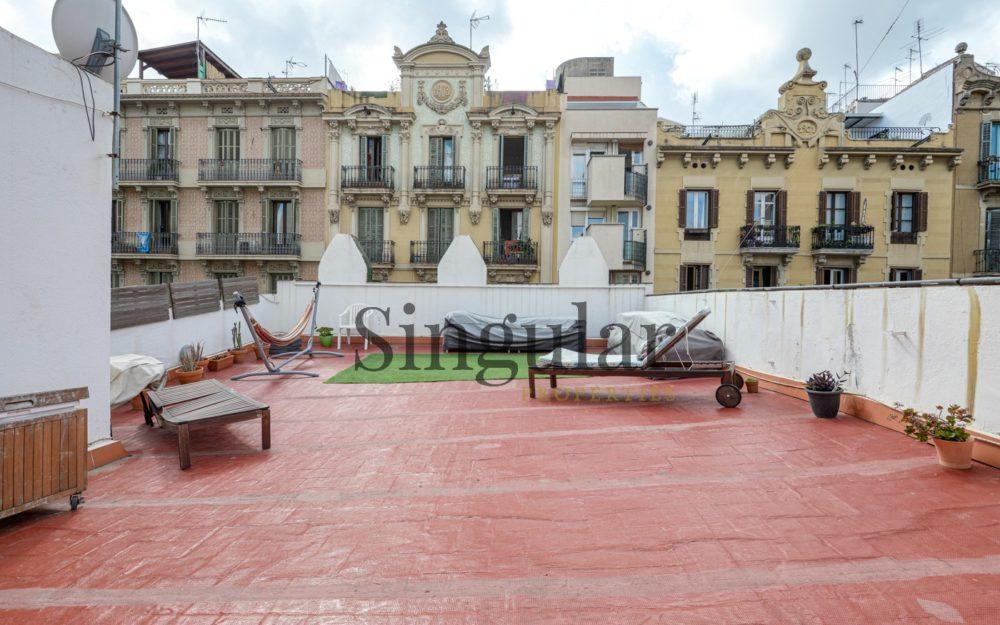 Ático con terraza grande y licencia turística